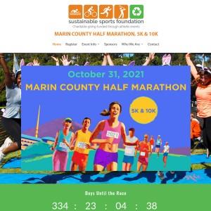 2021 Marin County Half Marathon, 10K & 5K -- Sunday, October 31, 2021 9:00am