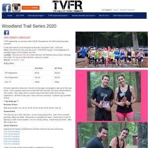 2021 TVFR Woodland Trail Race/Series - 5Mi (June, July, August)