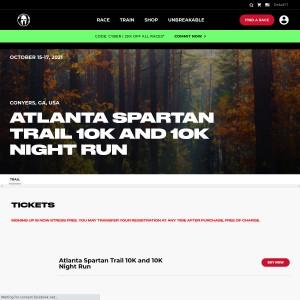 Atlanta Spartan Trail - Friday, October 15th & Sunday, October 17th 2021