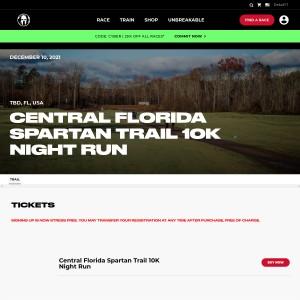 Central Florida Spartan Trail - Friday, December 10th 2021