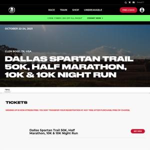 Dallas Spartan Trail - Friday October 22nd & Sunday, October 24th 2021