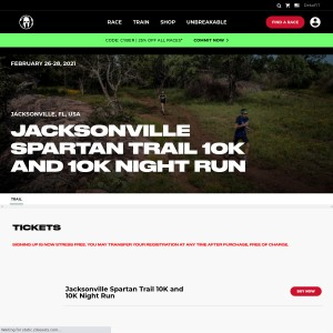 Jacksonville Spartan Trail - Friday, February 26th & Sunday, February 28th 2021