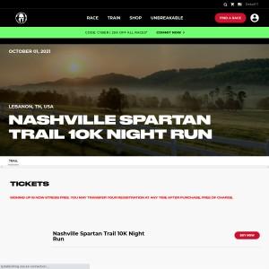 Nashville Spartan Trail - Friday, October 1st 2021