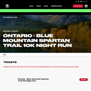 Ontario - Blue Mountain Spartan Trail - Friday, October 22nd 2021