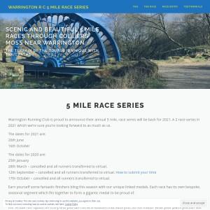 Warrington Running Club 5 Mile Trail Series 2021