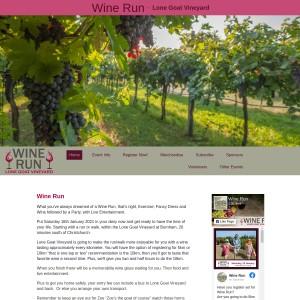 Wine Run - Lone Goat Vineyard - 16th January 2021
